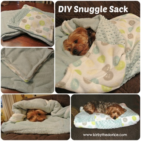 How to make a recycled blanket doggie snuggle sack