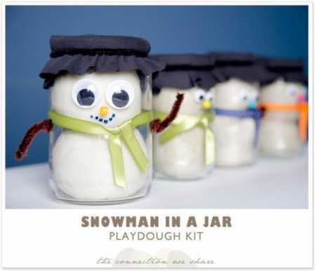 how to make snowman jars