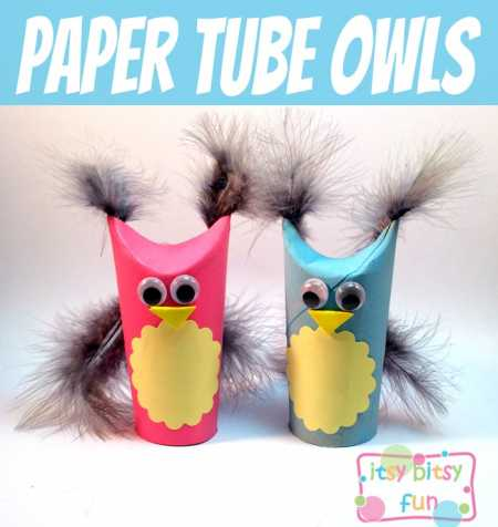 How to make recycled tp tube owls