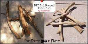 how to make driftwood