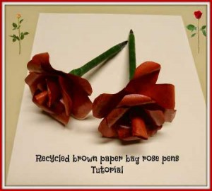 How to make paper rose pens recycled crafts wouldnt it be fun to give someone a bouquet of flowers that were also pens well if you or someone you know who would like a paper flower on a pen mightylinksfo