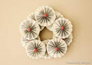 Rosette-Book-Wreath