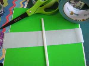 how to cut duck tape banners Fiskars scissors