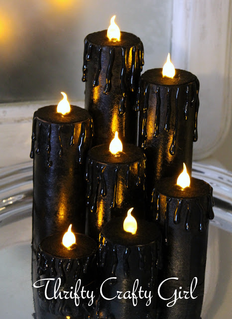 faux real Halloween candles
