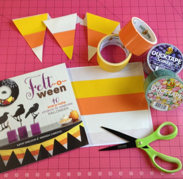 how to make scented duck tape candy corn