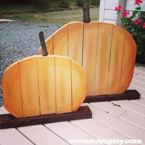 How to make scrap wood pumpkins