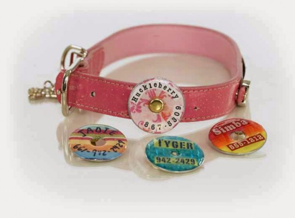how to make a washer dog collar tag