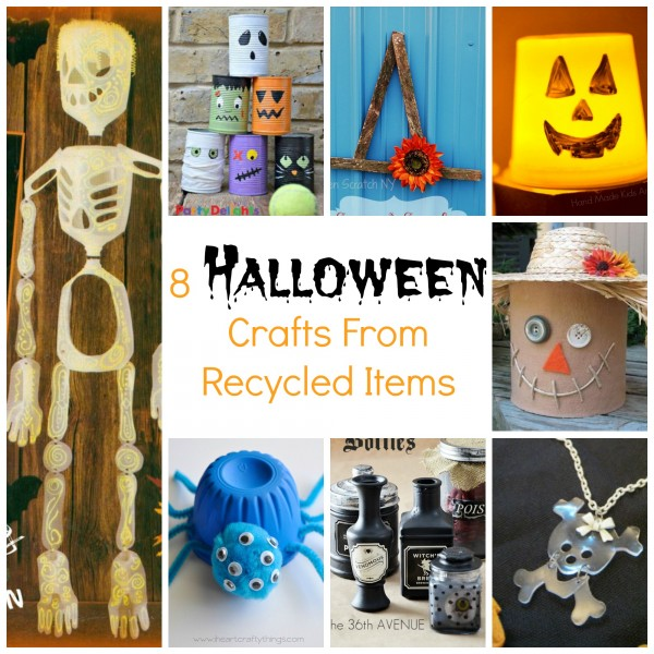 8 Halloween Crafts from Recycled Items
