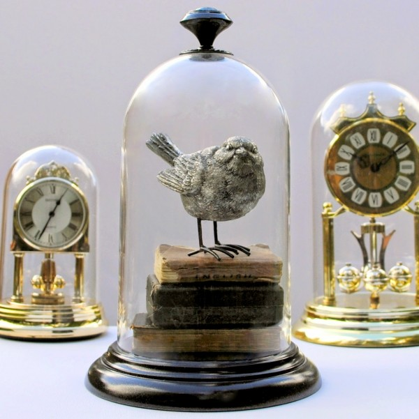 recycled clock cloche