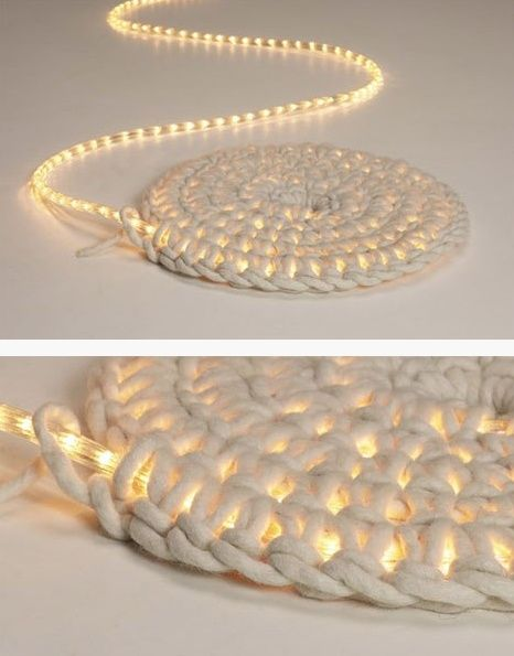 crochet over rope lights