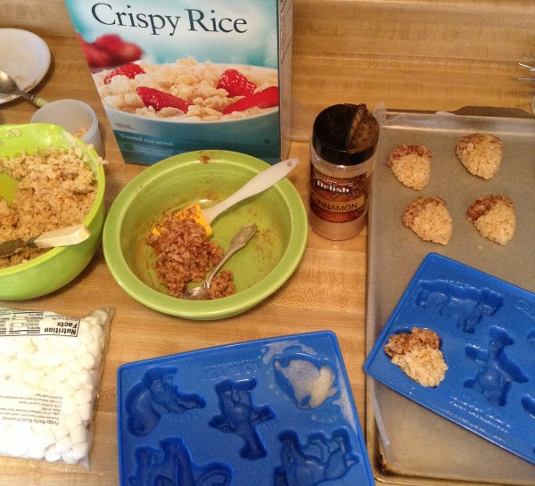 how to make acron rice crispy treats