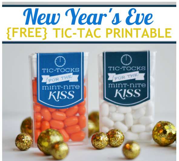 tic tack new years eve printable