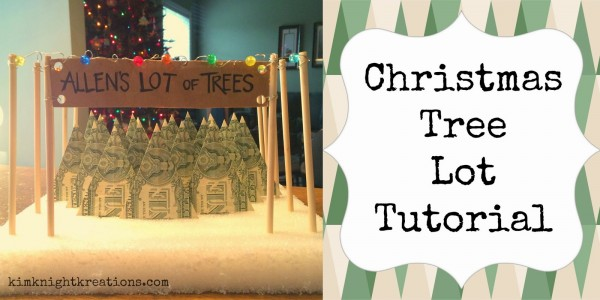How to make a money christmas tree lot recycled crafts i know giving gift cards is super popular but this idea for creating a christmas tree lot out of dollar bills crates a decoration in addition to a fun way negle Image collections