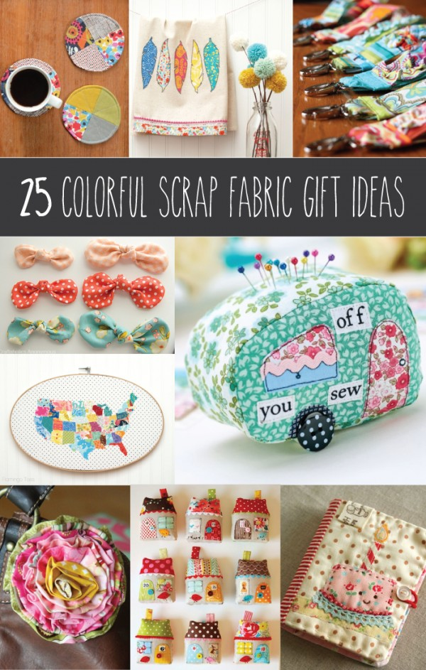 Use your fabric scraps to sew great gifts and stocking stuffers. Follow these free patterns and projects that use scraps of fabric to make great gifts.