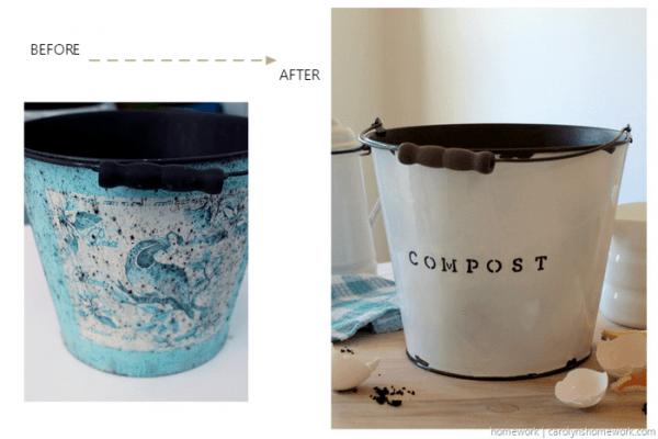 DIY Faux Enamel Ware Compost Bin - homework ~ carolynshomework (3)[9]