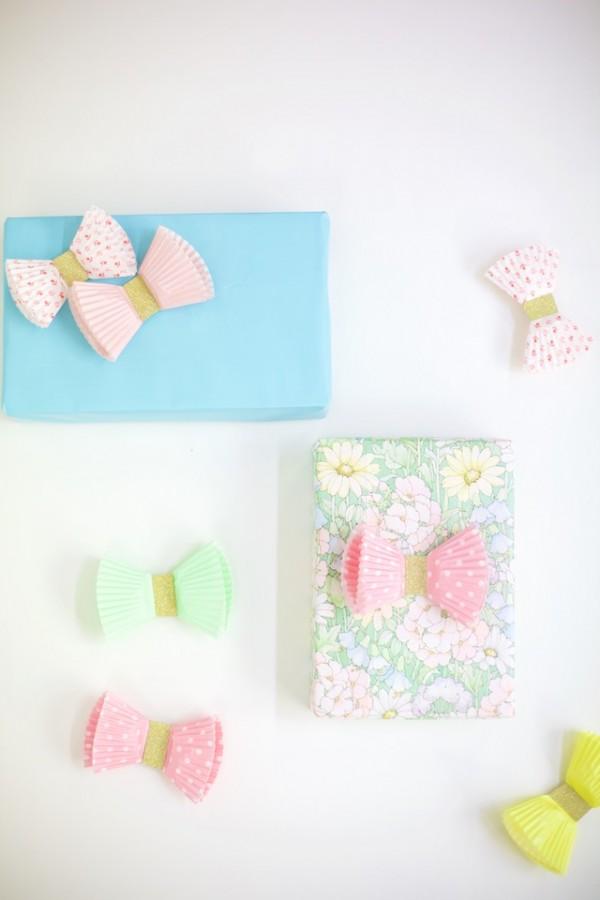cupcake paper bows