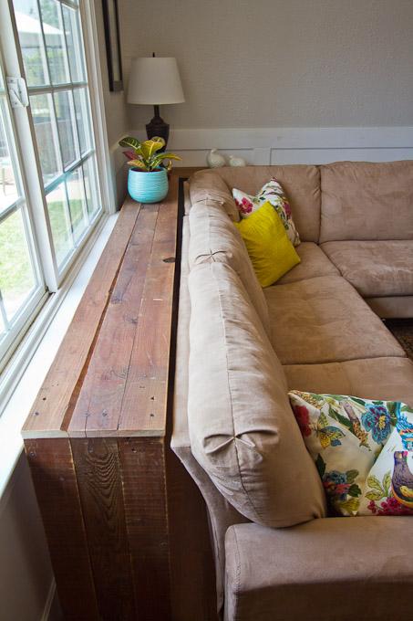 how to make a sofa table