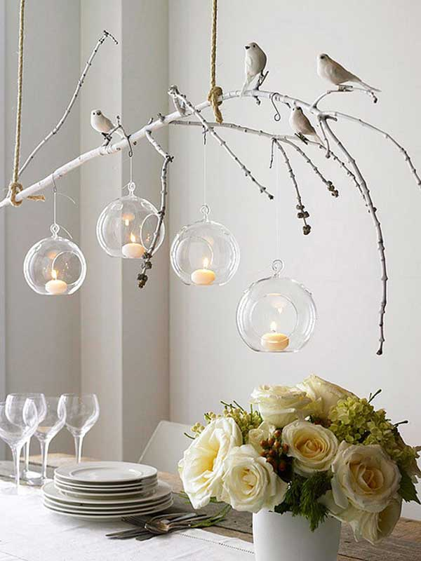 30 Ways To Make Tree Branch Chandeliers Recycled Crafts