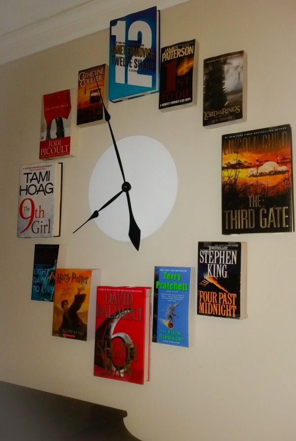 how to make wall clock out of waste