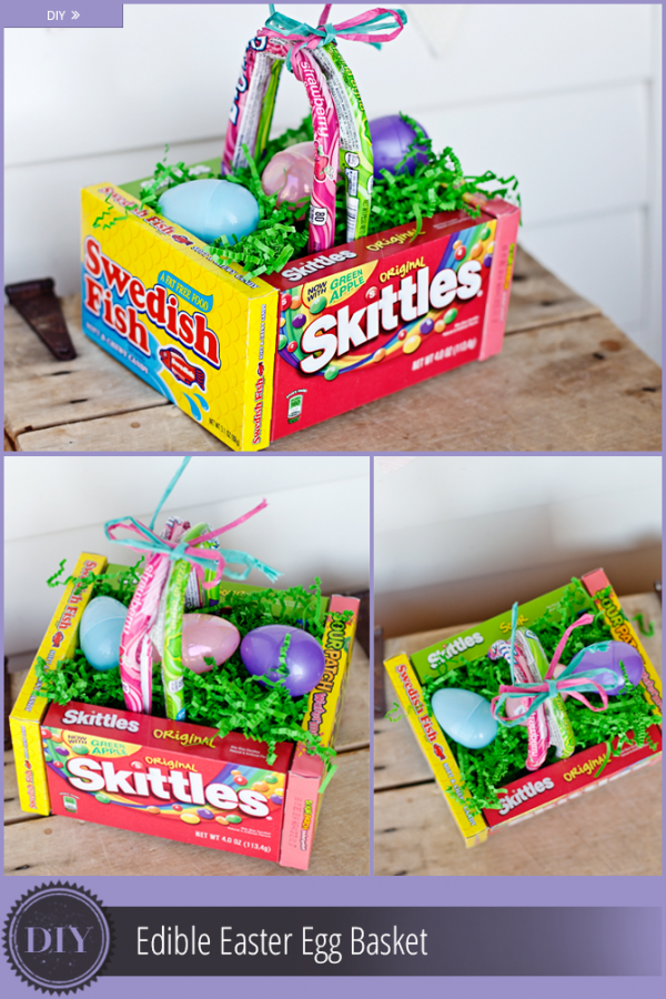 How to make a candy box easter basket recycled crafts edible easter basket negle Gallery