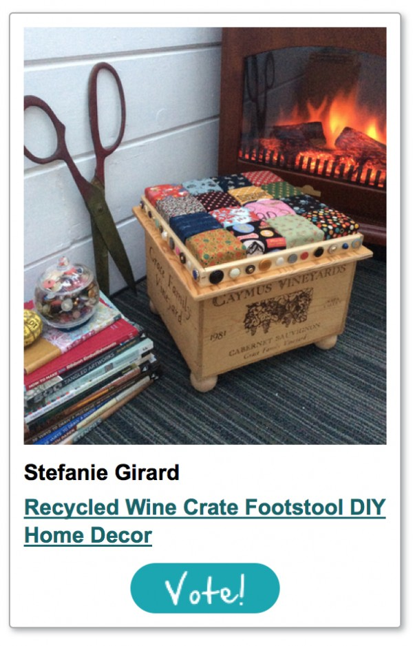 recycled wine crate footstool storage
