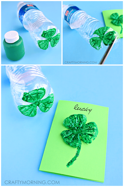 st-patricks-day-water-bottle-clover-card-craft1