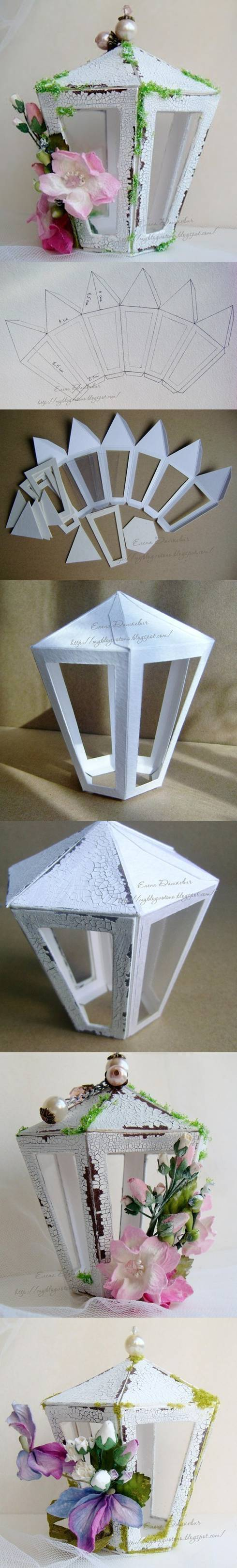 Template To Make A Paper Lantern Recycled Crafts