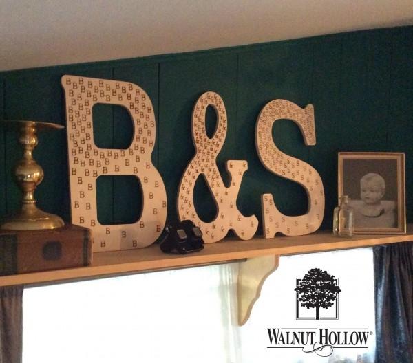 wood letters decoarion big