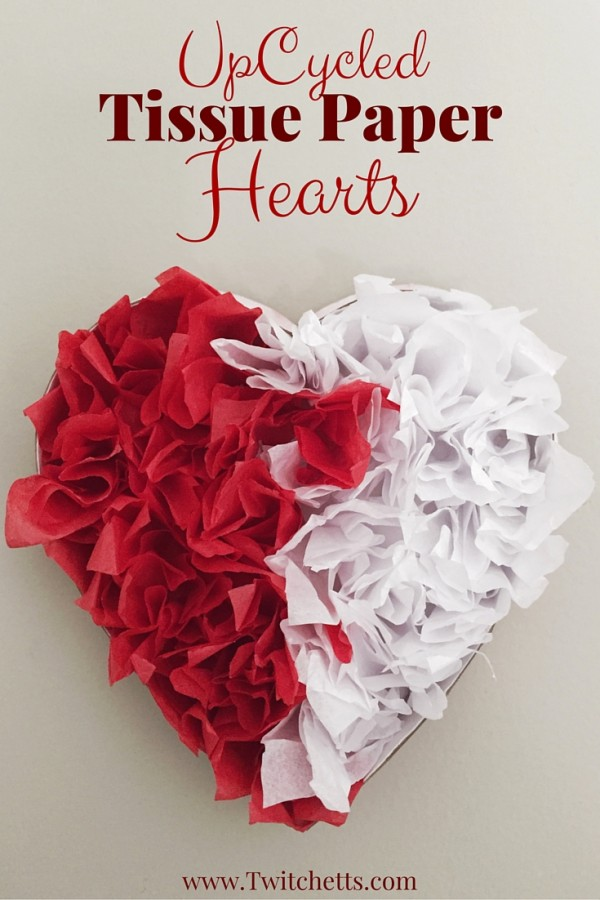 How To Make A Tissue Paper Valentine Heart Decoration