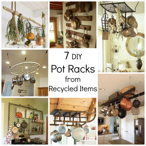 7 Diy Pot Racks From Recycled Items Recycled Crafts