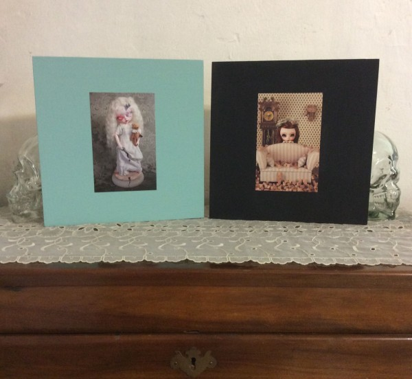 Frame postcards with painted Ikea frames