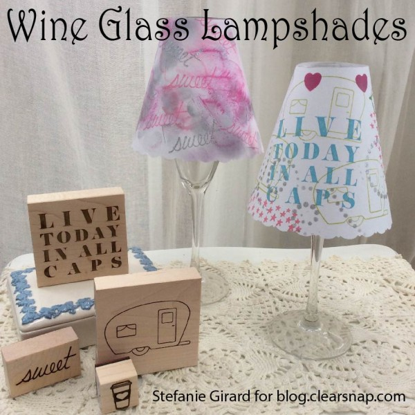 How to make wine glass lampshades