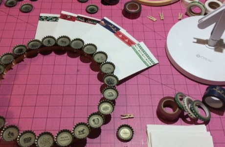 Forbidden Root bottle cap countdown wreath calendar