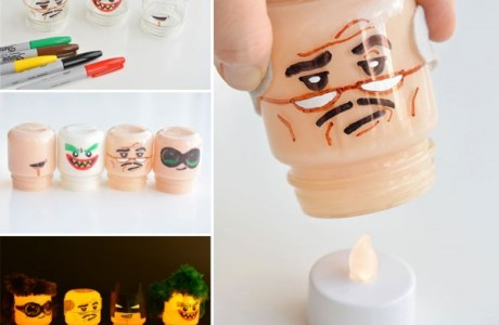 How to make Lego head lights
