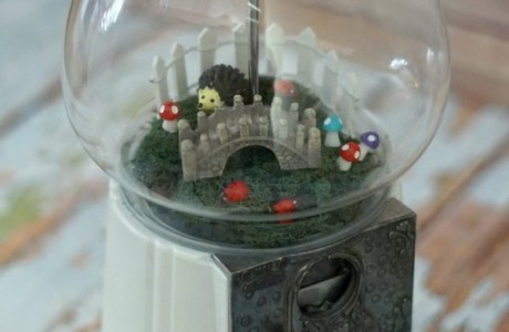 How to make a recycled gumball machine fairy garden