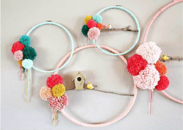 Upcycled embroidery hoop art recycled crafts