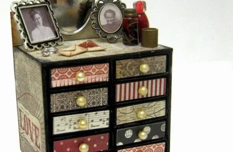 How to make a miniature matchbox vanity