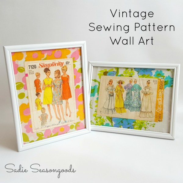 How to make recycled vintage sewing pattern art – Recycled Crafts