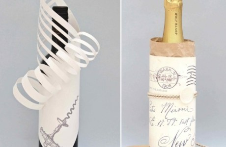 Two fun ways to wrap a wine bottle