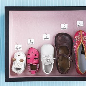 Baby shoe wall art
