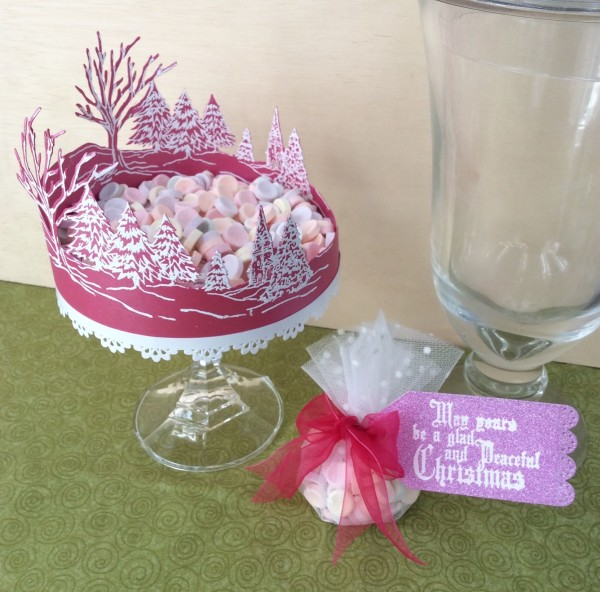 Die cut candy dish recycled candle stick Stefanie Girard