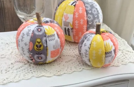 How to make no-sew fabric pumpkins