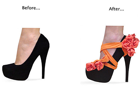 Easy way to dress up shoes