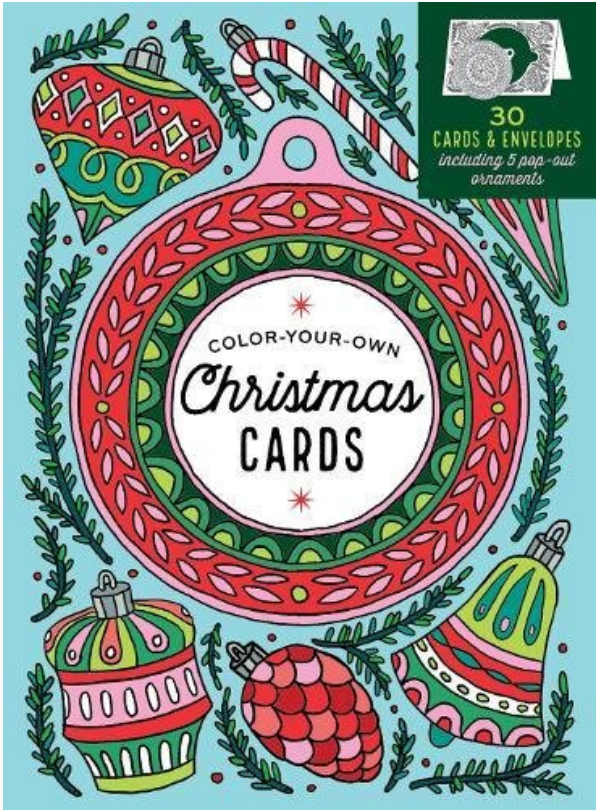 Giveaway-Create-Your-Own Handmade Christmas Cards: 30 Cards & Envelopes to Color, Including 5 Pop-Out Ornaments