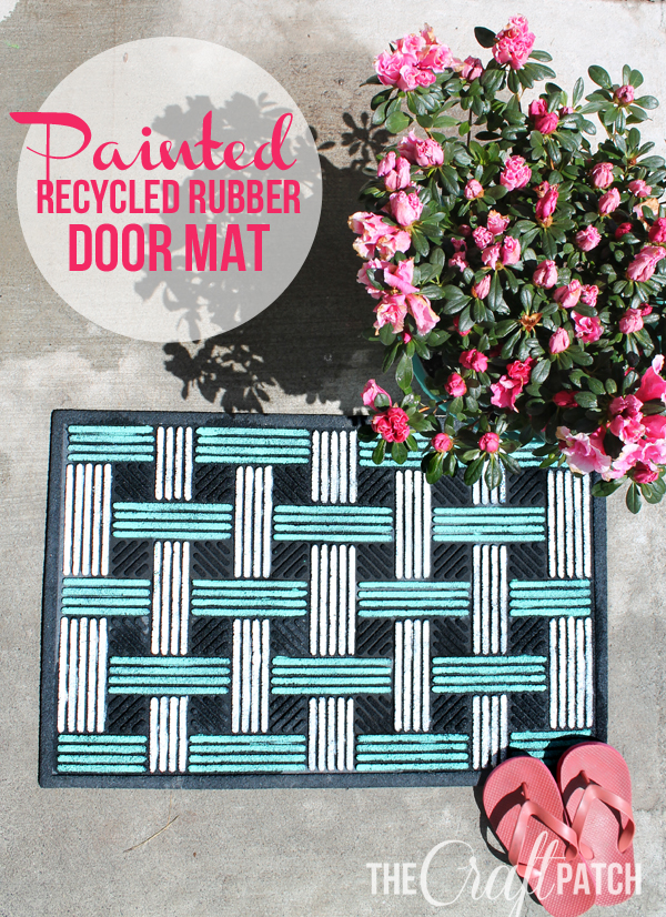 Upcycle a rubber door mat with paint