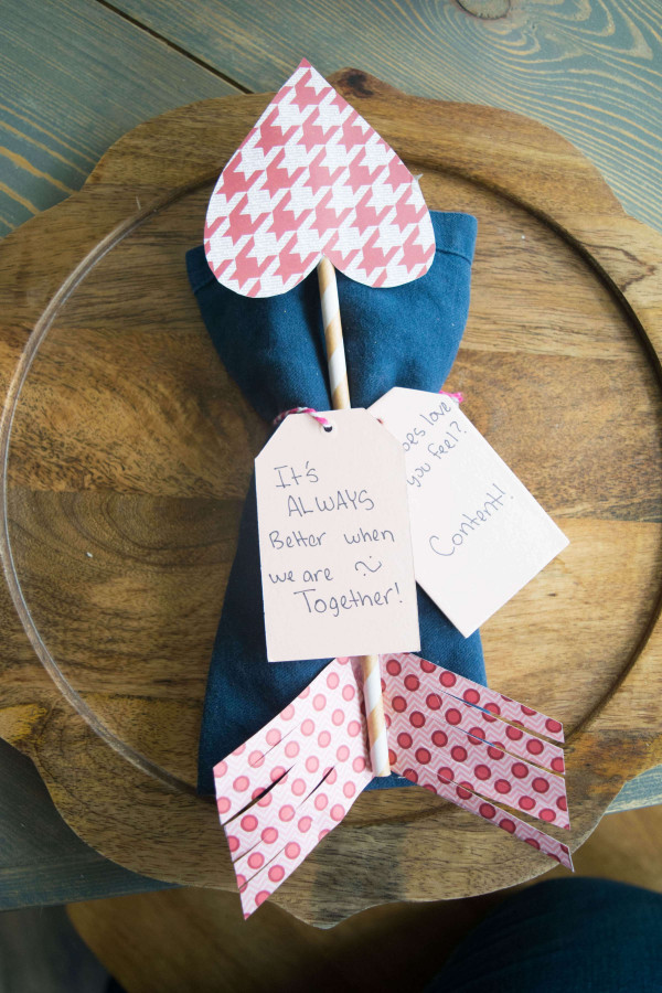 How to make Valentine arrows great for place settings