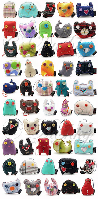 Eye candy in the form of monster plushies