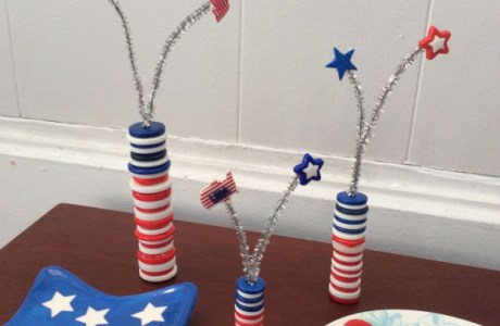 How to make button 4th of July sparklers