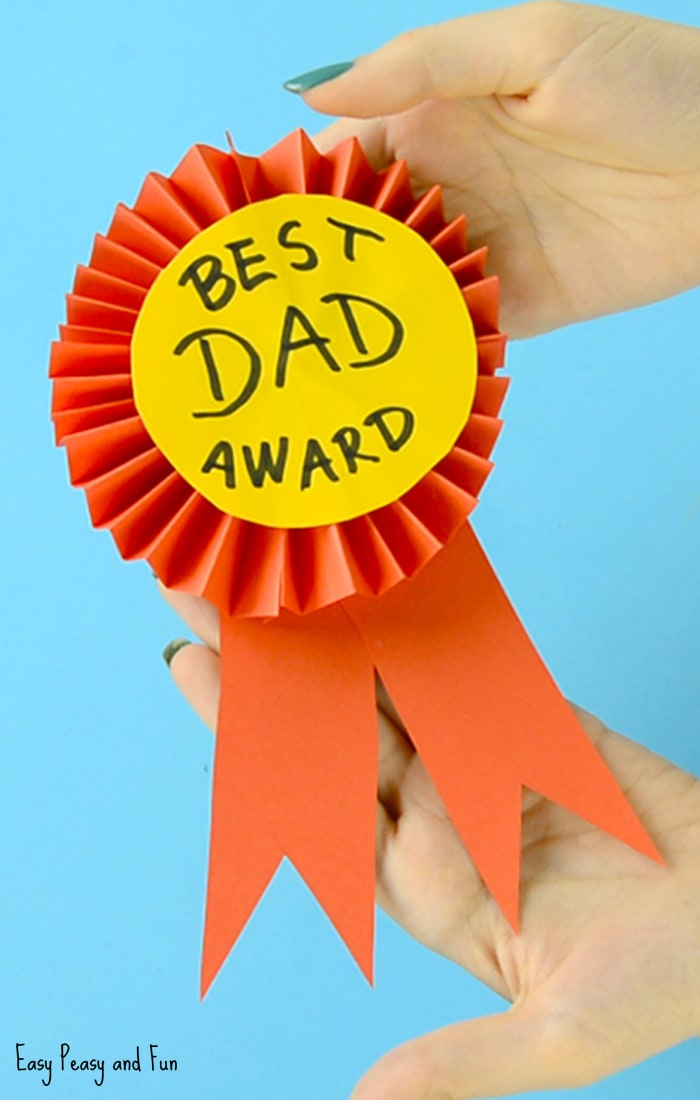 How to make an award perfect for Father's Day