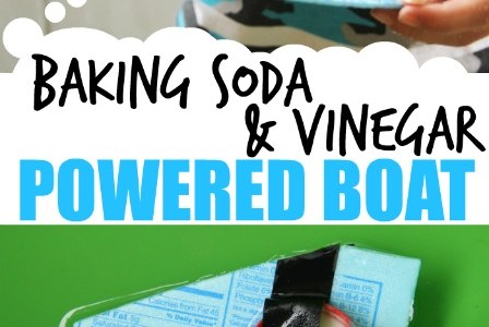 How to make a baking soda and vinegar boat